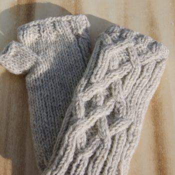 cream wool mittens fair trade - home of juniper