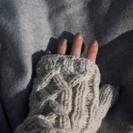 cream wool mittens fair trade - home of juniper