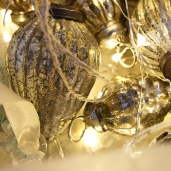 fair trade baubles and lights