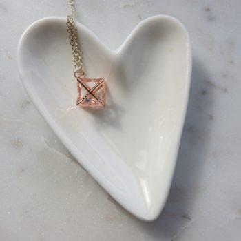 heart dish star necklace home of juniper