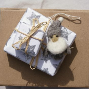 christmas scented natural soap small and large wrapped in star paper