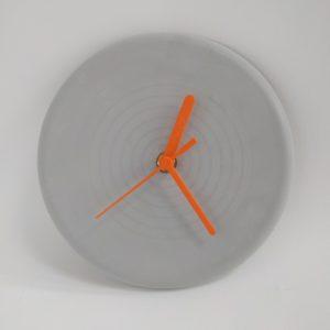concrete-clock-orange-hands-made-uk-homeojfuniper