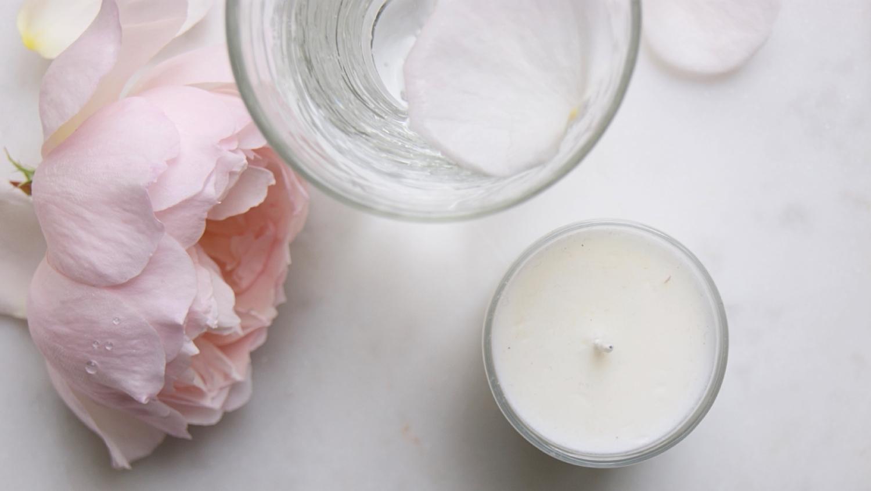 banner-gin-candle-roses-glass-homeofjuniper