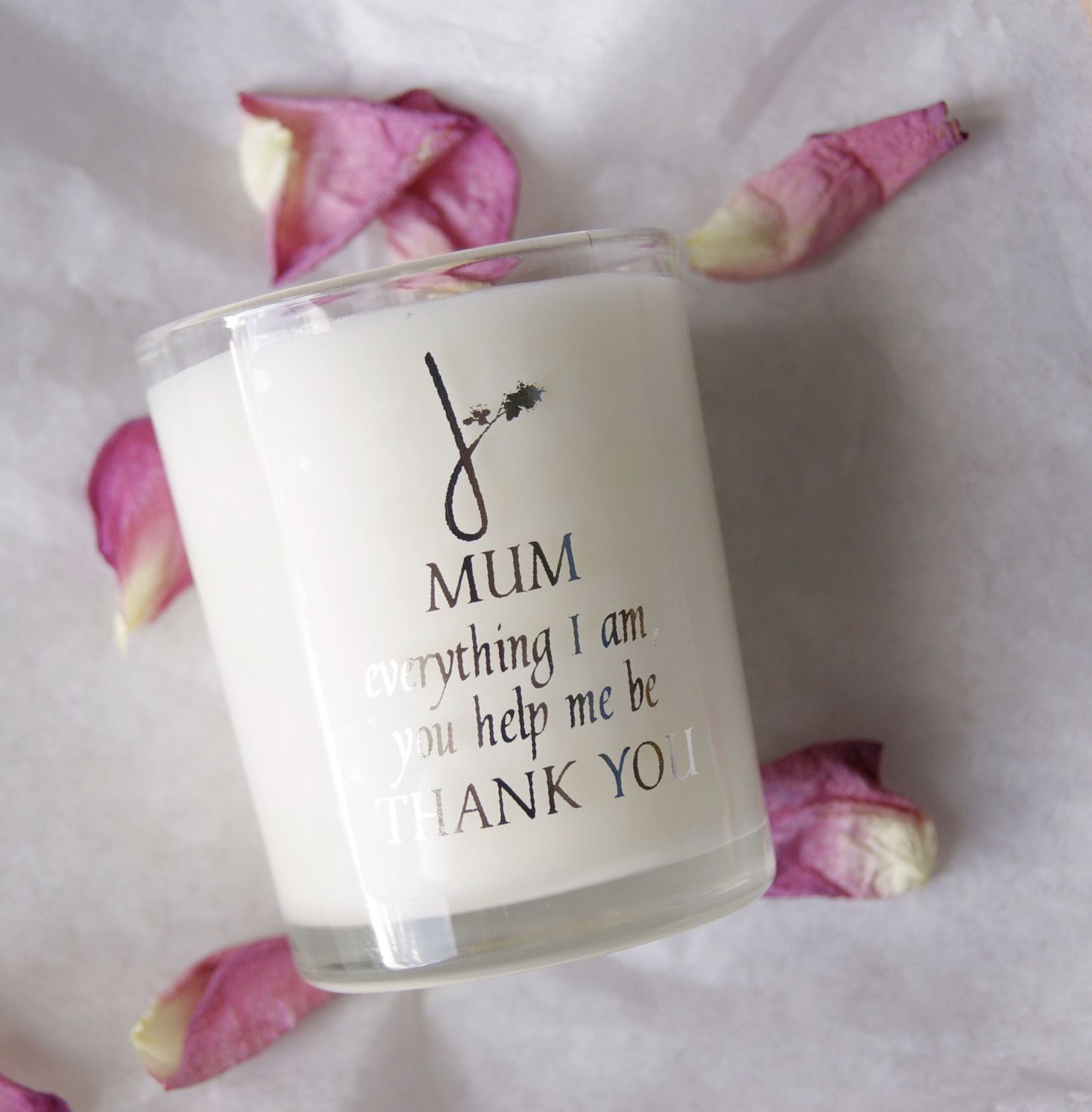 Mum Quote Candle Floral Scented Ethical Home Of Juniper Fragrance
