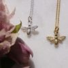 bee-necklaces-silver-gold-flower-homeofjuniper