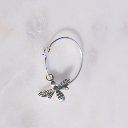 Bee-hoop-earrings-sterling-silver-made-cornwall-homeojfuniper-jewellery