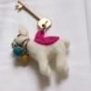 llama-felt-keyring-fairtrade-handmade-homeofjuniper