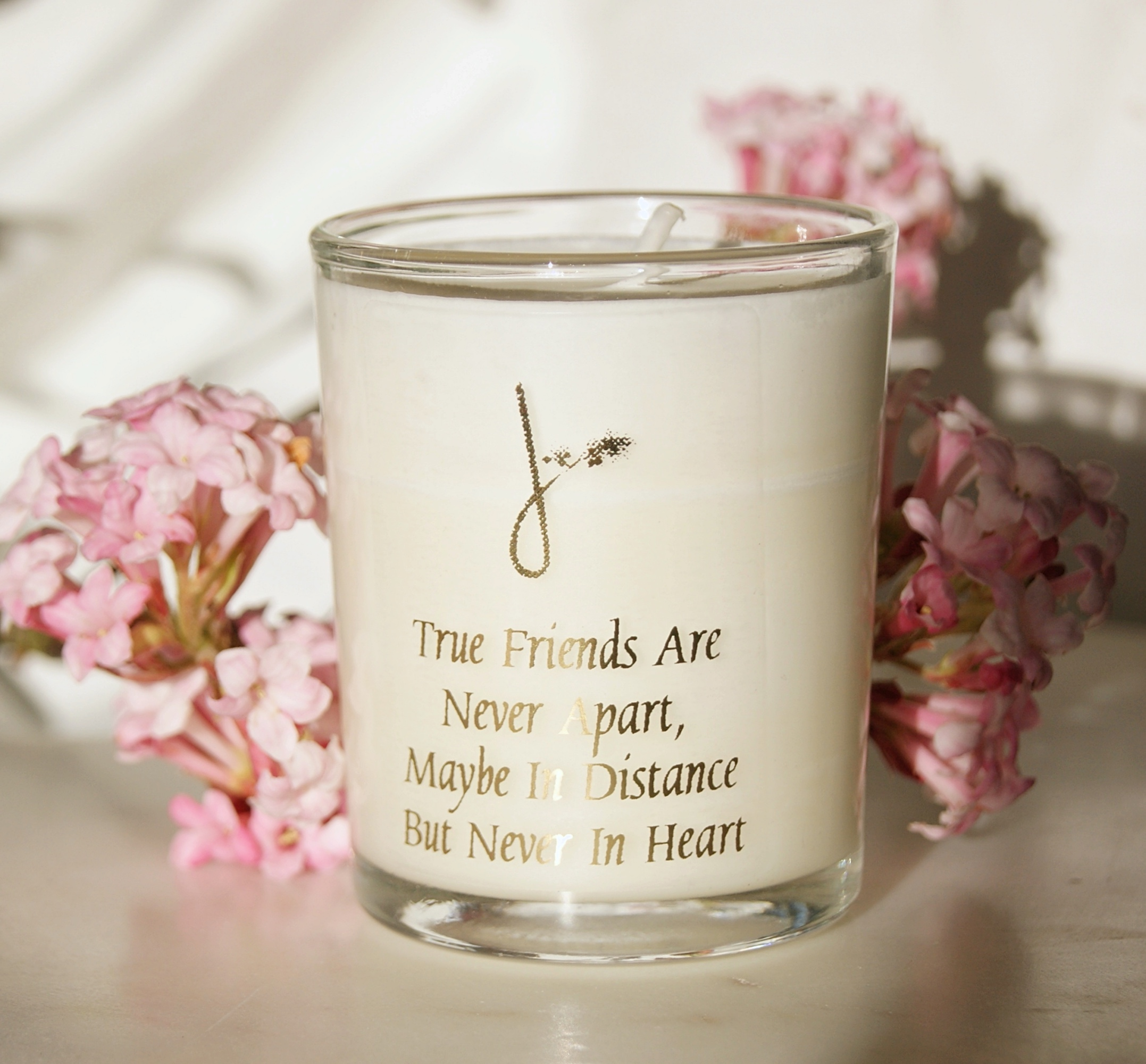 Friendship Quote Candle - Made in the UK