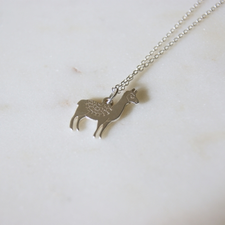 llama-necklace-sterling-silver-made-cornwall-homeofjuniper.