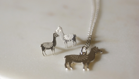 llama-earrings-necklace-homeofjuniper-sterling-silver-jewellery