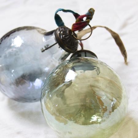 green-blue-recycled-glass-handmade-baubles-homeofjuniper-christmas