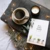 sq-grey-wool-throw-candle-espresso-book-homeofjuniper