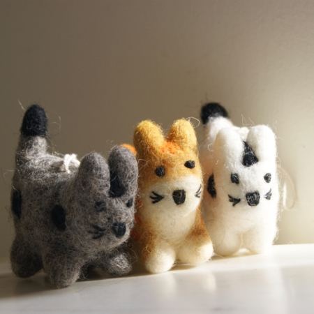 trio-felt-cat-decorations-fair-trade-homeofjuniper