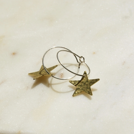 brass-hoop-star-earrings-made-in-cornwalll