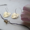 brass-monstera-hoop-earrings-trex-wish-bracelethomeofjuniper-jewellery