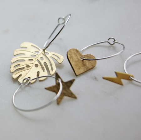 sq-brass-lightening-monstera-star-heart-hoop-earrings-homeofjuniper-jewellery