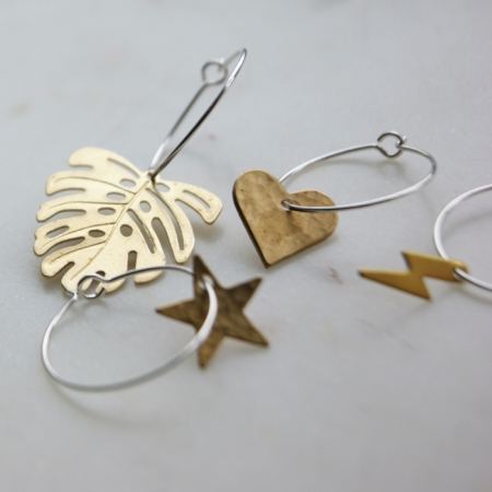 sq-brass-lightening-monstera-star-heart-hoop-earrings-homeofjuniper-jewellery