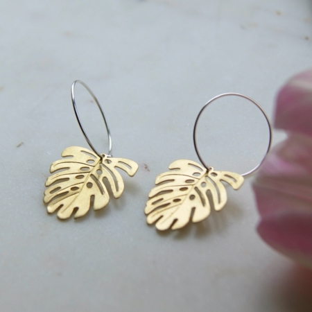 ulip-brass-monstera-hoop-earrings-homeofjuniper-jewellery.