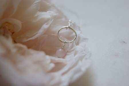 banner-rose-quartz-hoop-necklace-made-cornwall-lajuniper