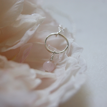 banner-rose-quartz-hoop-necklace-made-cornwall-lajuniper