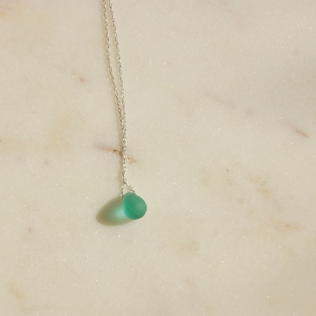 Glass Teardrop Necklace