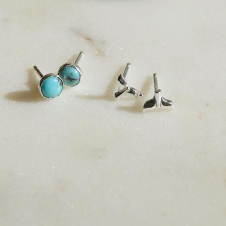 turquoise-stud-earrings-whale-tail-earrings