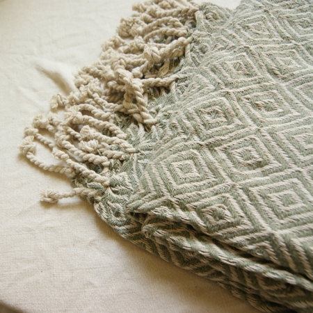 sq-sage-green-recycled-cotton-throw-lajuniper