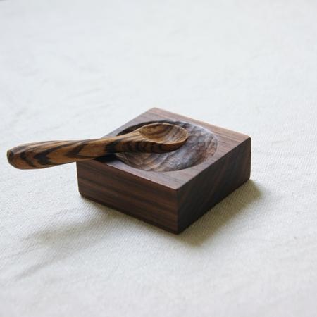 walnut-pinch-pot-zebra-wood-spoon-lajuniper-