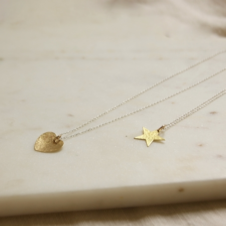 brass-heart-star-necklace-made-cornwall