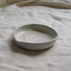 aqua-rimmed-ceramic-dish-handmade