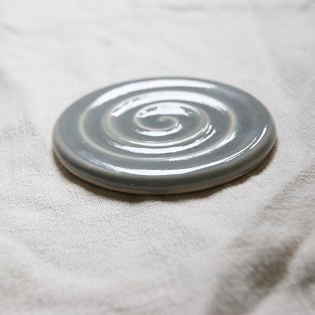 grey soap dish