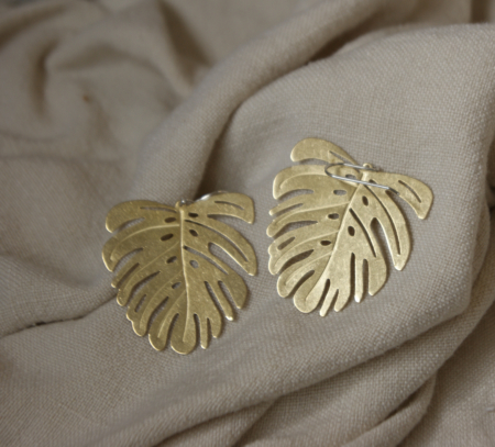 extra-large-brass-monstera-earrings